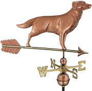 Good Directions Golden Retriever / Dog Weathervane With Arrow Pure Copper