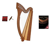 Roosebeck 29-string Minstrel Harp W/ Chelby Levers + Learn To Play Book