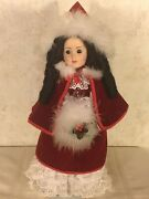 14andrdquo Victorian Porcelain Christmas Wind Up Musical Doll With Stand