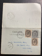 1903 Ottawa Canada Postal Stationery Postcard Cover To Vancouver