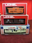 Lionel 3 Pc. Modern Mpc And Fundimensions - Freight Car Lot W/boxes - Nice