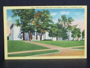 Youngstown Ohio Butler Art Institute And First Christian Church View Postcard Vtg