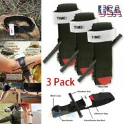3 Tourniquet Rapid One Hand Application Emergency Outdoor First Aid Kit Black Us