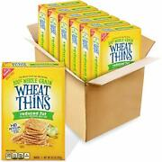 Wheat Thins Reduced Fat Whole Grain Crackers 6 - 8.5 Ounce Pack Of 6