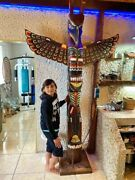 Totem Pole Indian Wooden Deco Wood Height 250 Metres 9842 Inches 820 Feet