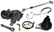 New 72-75 Jeep Cj Power Steering Gear Box Kit,with V8 Bracket,smog Pulley,201