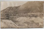1890s Card Mounted Photo Of Mines And Buildings Virginia City Nevada