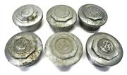 1920s Buick Hupcaps Aluminum W/chrome 3 13/16 Od On Button Sold As A Lot Of 6