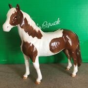 Beswick Horse Pony Pinto Skewbald Brown And White Gloss No 1373 Boxed