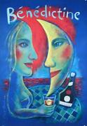 Benedictine By Paul Davis French Liquor Poster On Canson Paper Original Popart