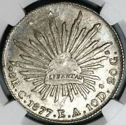 1877-ca Ea Ngc Ms 63 Mexico 8 Reales Chihuahua Mint Silver Coin 20092703c