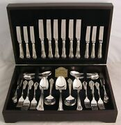Chesterfield Design George Butler Silver Service 76 Piece Canteen Of Cutlery