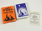 Vintage Gypsy Witch Fortune Telling Tarot Playing Cards Occult Halloween