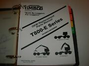 Timbco T800-e Series Hydro-skidder Parts Manual Issued 2002