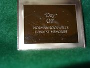 Franklin Mint .925 Day Off By Norman Rockwelland039s Fondest Memories 3.2 Oz.