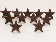Cast Iron Star Shaped Drawer Pulls 11pcs Rustic Country Home Designs