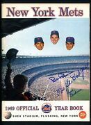 1969 New York Mets Yearbook Signed By Tom Seaver Total Of 27 Autographs