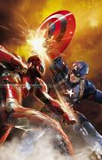 Metal Spark Avengers Marvel Giclee Canvas Signed By Stan Lee Limited Ed Of 63