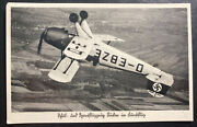 1938 Gunzburg Germany Real Picture Postcard Cover Air Force Airplanes Exhibition