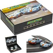 Scalextric Ford Gt40 1969 Gulf Limited Edition Twin Pack 132 Slot Race Cars C40