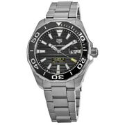 New Tag Heuer Aquaracer 300m Automatic 43mm Black Menand039s Watch Way201a.ba0927
