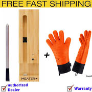Meater+165ft Long Range Smart Wireless Meat Thermometer With Bbq Grill Gloves