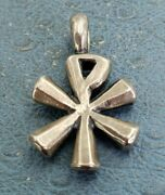 James Avery Retired Thick And Chunky Pax Cross Sterling Pendant Elegant
