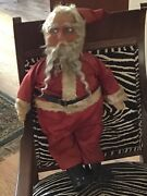 Vintage German Large Santa Claus, Stuffed With Possible Straw