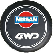 Spare Tire Cover 16 Inch For Nissan 4wd Logo Denim Vinyl Dust Protector 30 31