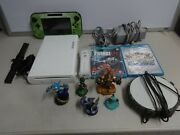 Nintendo Wii-u White Console Basic 8gb Set Wup-001 W/ Games Tested System