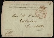 1840 1d House Of Parliament 1d Envelope Used Rare Early Usage Cat. Andpound18000.00