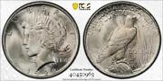 1922 Vam 6 Doubled Leaves Peace Dollar Pcgs Ms65 Top 50 Trueview B5-0963