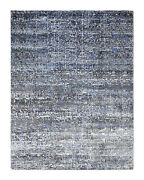 Solo Rugs - Rupert Contemporary Modern Hand-knotted Area Rug Charcoal 9 X 12