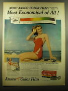 1950 Ansco Color Film Ad - Now Ansco Color Film Most Economical Of All