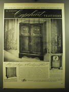 1950 Capehart Advertisement - Virginian Television And Capehart Phonograph-radio