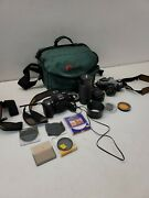 Lot Of Camera Parts And Accessories - Canon Ae-1 - Nikon N80 And More