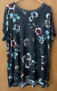 Torrid Sz 1 And 2 T Shirts Dip Dye Joggers Spring Floral Graphic Cardigan Lot 8
