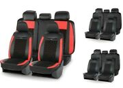 Universal Car Seat Covers Set Artificial Suede Diamond Pattern Luxury Interiors