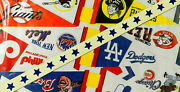 1970's National League Baseball Pennants 'string Em Up' In Box Trench Co Buffalo