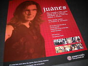 Juanes ...with You Since The Beginning 2006 Photo Image Promo Poster Ad Mint