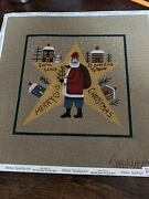 Santa Claus Is Coming To Town Painted Needlepoint Canvas