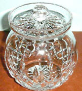 Waterford Lismore Round Crystal Biscuit Barrel Canister Cookie Jar 129582 New