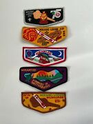 Boy Scouts Order Of The Arrow Mikano Lodge 231 Set Of 5 Lodge Flaps