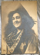 Antique Cowgirl Original Large 9 X 13 Real Photo Thick