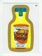 2013 Wacky Packages All-new Series 11 Ans11 Gold Border Card 13 Pimply Orange