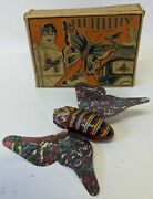 Ultra Rare Vintage 1929 Marx Tin Litho And Celluloid 'flutterfly' Butterfly In Box