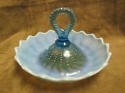 Circa 1910 Dugan Northwood Blue Opalescent Beaded Panel Pattern Glass Whimsy