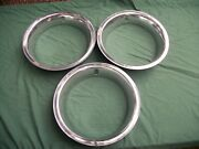 1960-70and039s Beauty Trim Rings 14 Three Used Parts Read Description.