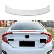 Fit For Honda Civic 2016-2020 Mc Style Rear Trunk Spoiler Wing Flap 1x Abs White