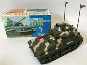 Vintage 1960s B.o. Military Scorpion Reconnaissance Tank Toy Army Truck